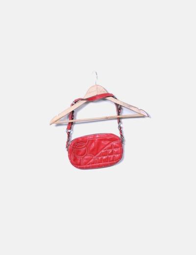 Mini bolso rojo acolchado