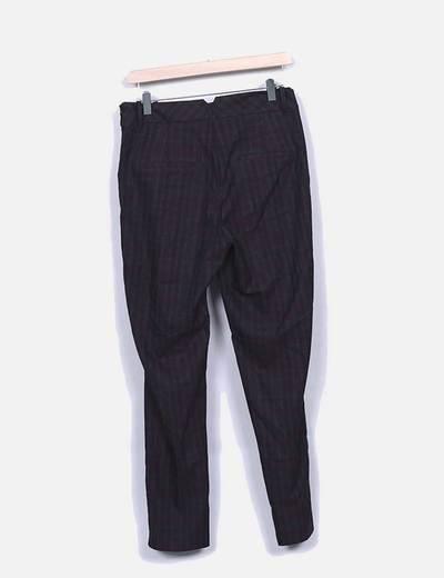 Pantalon de cuadros pinzas