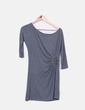 Vestido gris con tachas Zara
