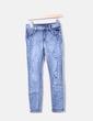 Jeans denim pitillo con perlas NoName