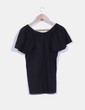 Camiseta egro con escote redondo NoName