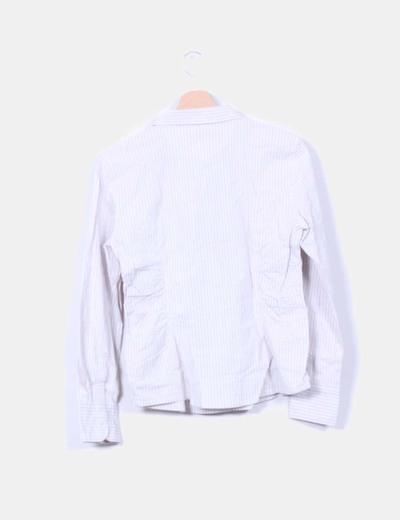 Camisa beige a rayas