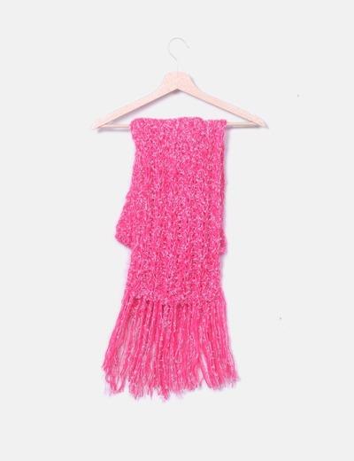 Bufanda tricot rosa