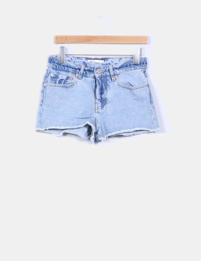 Short denim claro Maje