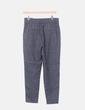 Pantalón chino gris cuadros ONLY