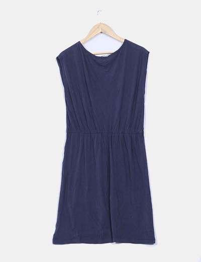 Vestido azul con caido