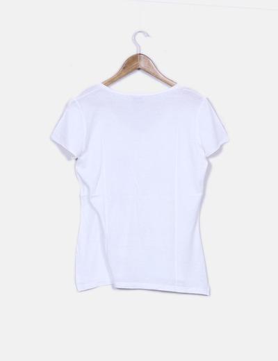 Camiseta blanca print birds