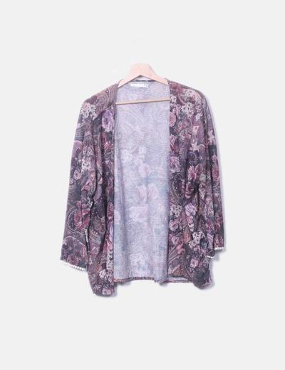 Kimono tricot morado