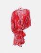 Blusa estampado bicolor semitransparente NoName