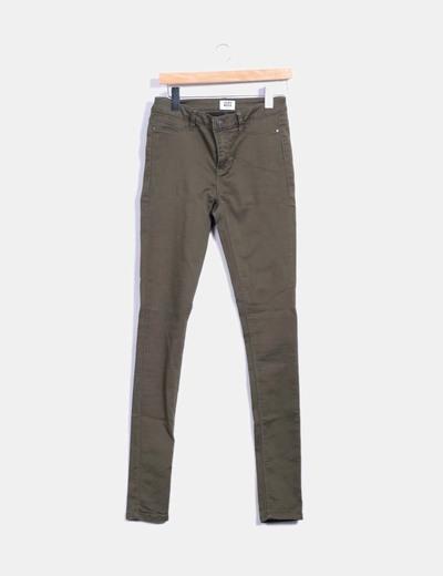 Pantalon vert kaki taille haute Vero Moda