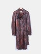 Abrigo marrón efecto desgastado Zara