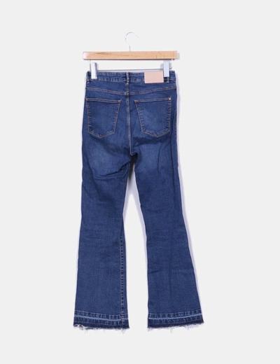 Jeans denim campana desflecado