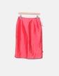 Falda midi roja satinada El Corte Inglés