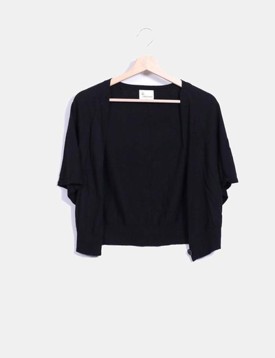 Chaqueta tricot negro manga corta Stella Forest