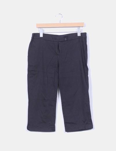 Pantalón pirata negro Trechos