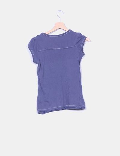 Camiseta azul print punks