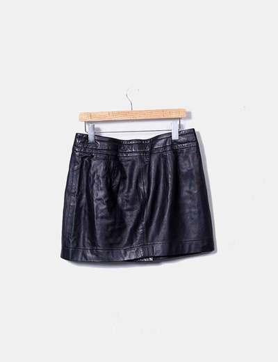Mango Falda negra piel (descuento 81%) - Micolet 5a5637e3cb2e