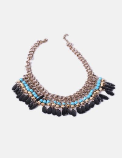 Collar abalorios tricolor