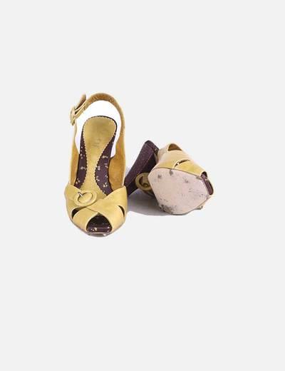 Zapato tacon puntera cuadrada