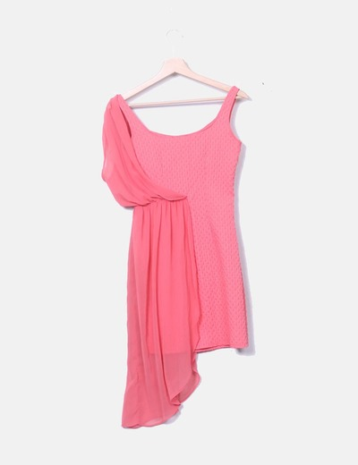 fuerte embalaje realmente cómodo vendido en todo el mundo Vestido rosa combinado