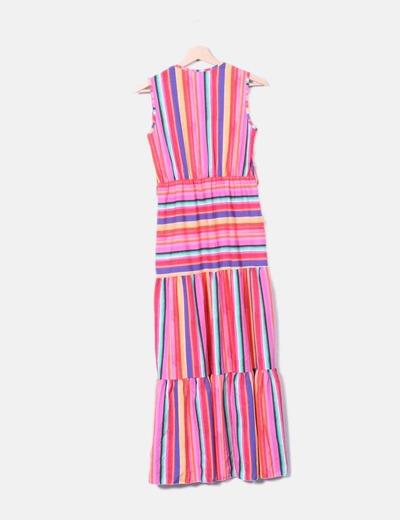 Vestido rayas multicolor
