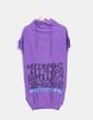 Top tricot con capucha en color morado Titis