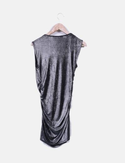 Armani Exchange Vestido de glitter assimétrico (desconto de 76%) - Micolet fbac0d9fb53fc
