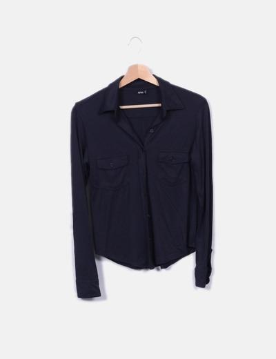 9baa3a83dcdb Mango Schwarzes Shirt mit langen Ärmeln (Rabatt 77 %) - Micolet