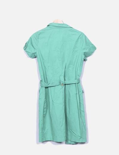 Vestido verde camisero