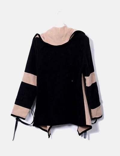 Abrigo lana bicolor