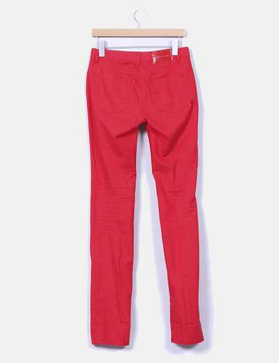 Pantalon denim rojo