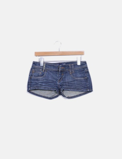 Shorts denim efecto desgastado Bershka
