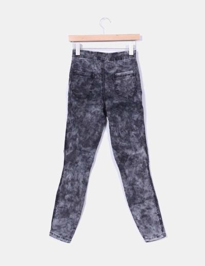 Jeans denim grises degradados elasticos