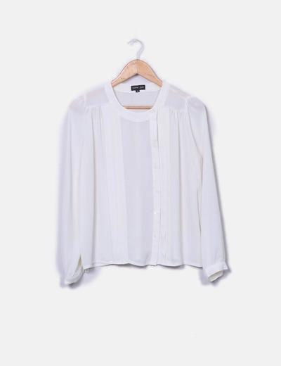 T-shirt beige col Sister Jane