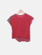 Camiseta de punto semitransparente roja NoName