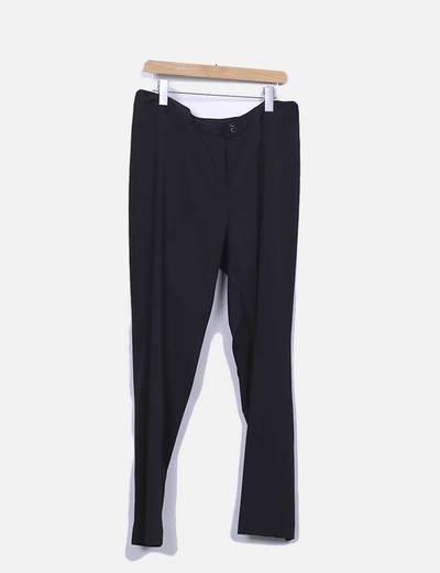Pantalon recto fluido negro URBAN