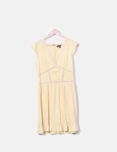 Vestido vintage beige