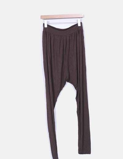 Pantalon baggy fluido marron