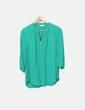 Camisa verde con cremallera Naf Naf