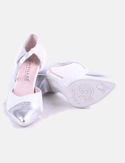 Pitillos Zapato plateado tacón plateado de Zapato de Pitillos tacón 1gwdItxqZ