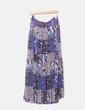 Falda de gasa multicolor Zara