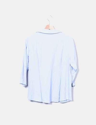 59653c0a6 Prenatal Camisa fluida azul premamá (descuento 91%) - Micolet