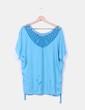Blusa turquesa detalle en crochet NoName