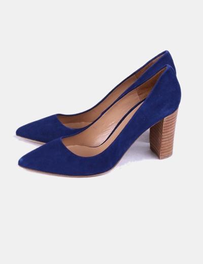 Zapatos heels ante azul indigo