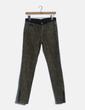 Jeans denim verde animal print Zara