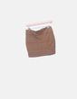 Mini falda marrón Stradivarius