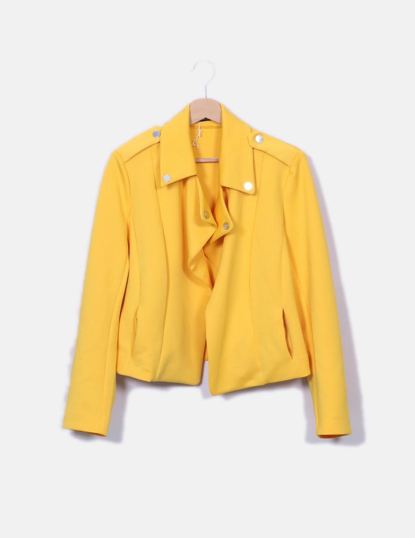 9ef3f1b6fd9 Cazadora Mujer Stradivarius amarillo Abrigos neopreno online Chaquetas y  biker baratos de 6qr6w1A ...