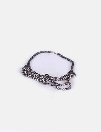 Collar bolas marrones NoName