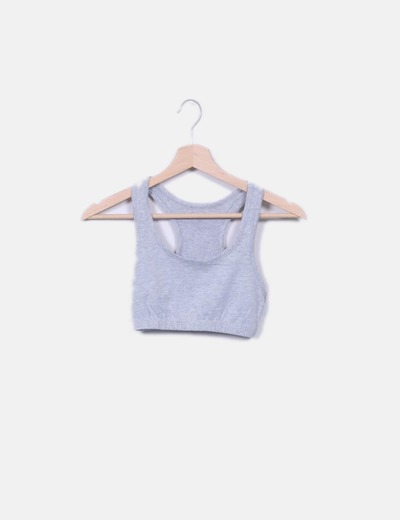 Top crop gris NoName