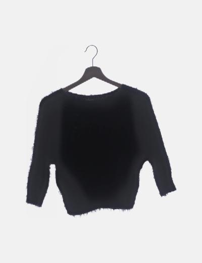 Jersey negro peluche